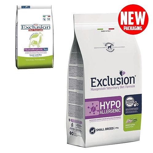 Exclusion - Diet Hypoallergenic Small Breed Insetti e Piselli