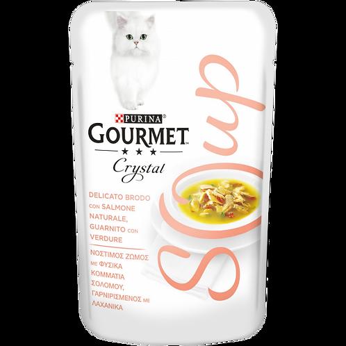 GOURMET Crystal Soup Delicato brodo con Salmone naturale,guarnito con Verdure40g