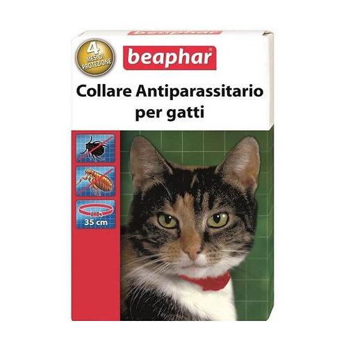 Beaphar Collare Gatto Antiparassitario Rosso 35 cm