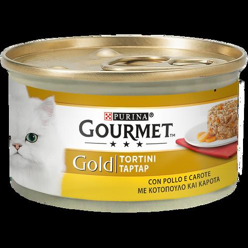 GOURMET Gold Tortini Gatto con Pollo e Carote 85 Gr.