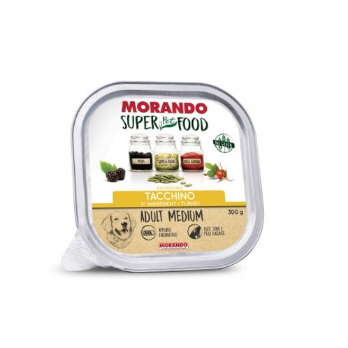 Morando Super Pet Food Cane Adult Medium Pate' al Tacchino  300 Gr.