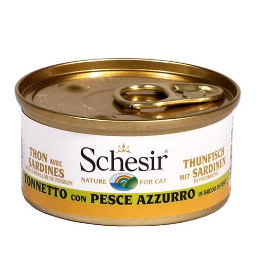 Schesir - Tonnetto con Pesce Azzurro in Brodo di Cottura 70 Gr.
