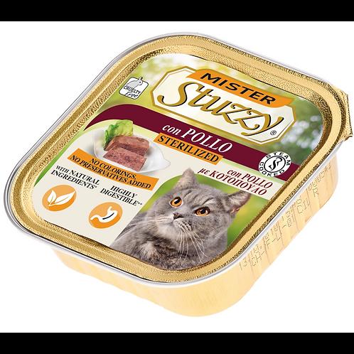 Mister Stuzzy Patè Gatto Sterilizzato con Pollo 100 Gr.