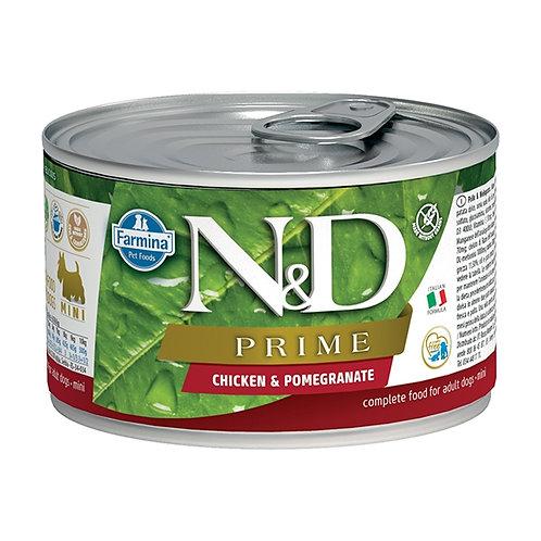 Farmina Natural & Delicious Prime Mini con Pollo e Melograno 140 Gr.