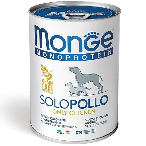 Monge Pate' Monoproteico SOLO Pollo 400 Gr.
