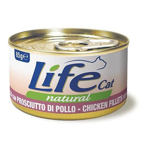 Life Pet Care - Life Cat Natural Filetti di Pollo con Prosciutto di Pollo