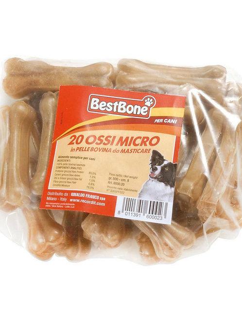 BestBone Ossa Micro Termoretratte in Pelle Bovina 20 pz.