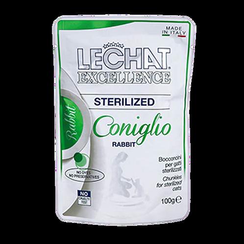 Lechat Excellence Bocconcini Gatti Sterilizzati Coniglio 100 Gr.