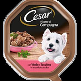 Cesar Ricette di Campagna Vitello e Tacchino in una deliziosa salsa 150 Gr.
