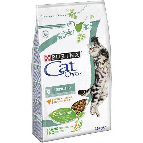 CAT CHOW Sterilized Gatto Crocchette ricco di Pollo 1,5 kg