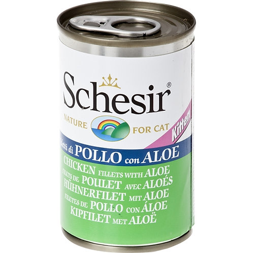 Schesir - Kitten Filetti di Pollo con Aloe in Gelatina 140 Gr.