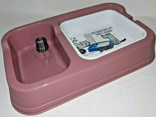 Distributore automatico con Ciotola Acqua e cibo per cane gatto con adattatore