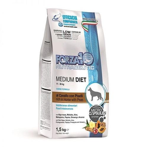 Forza10 - Medium Diet al Cavallo e Piselli 1.5 Kg.