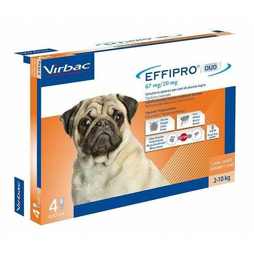 Virbac-Effipro Duo Spot-On contro pulci,uova,larve e zecche Cane S 2-10 Kg.