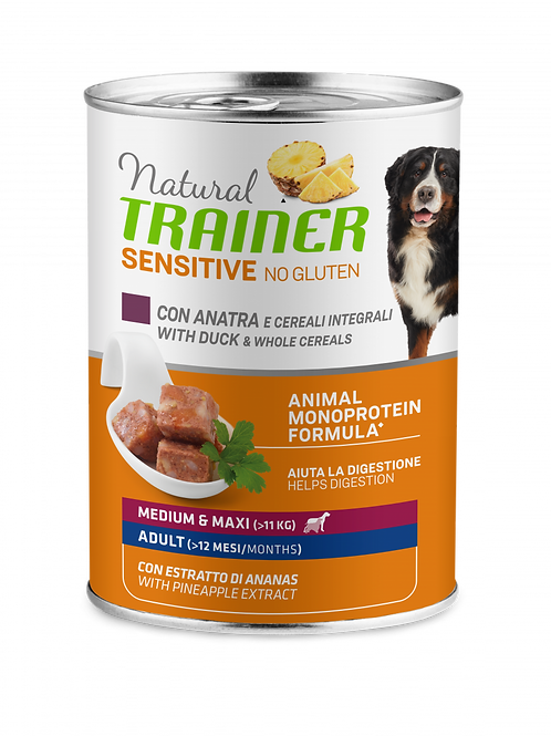 Natural Trainer Sensitive No Gluten Medium&Maxi Adult con Anatra, cereali 400 G