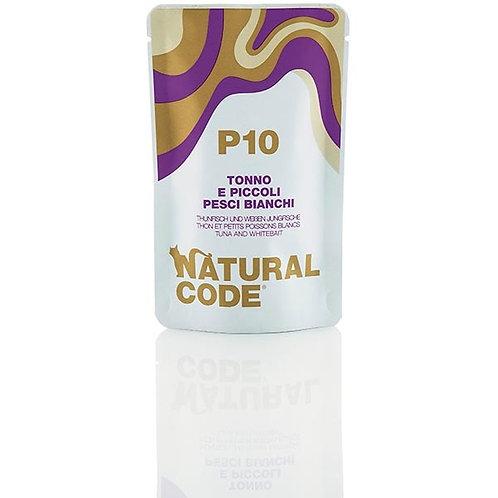 Natural Code - P10 Tonno e Piccoli Pesci Bianchi in Acqua di Cottura 70 Gr.