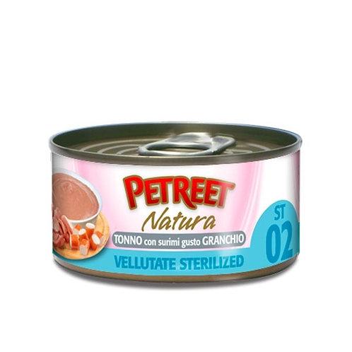 Petreet  Natura Vellutate Sterilized Tonno con Surimi Gusto Granchio 70 Gr.