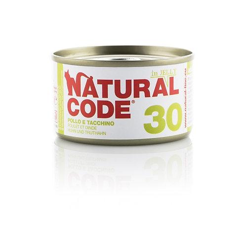Natural Code - 30 Pollo e Tacchino in Jelly 85 Gr.