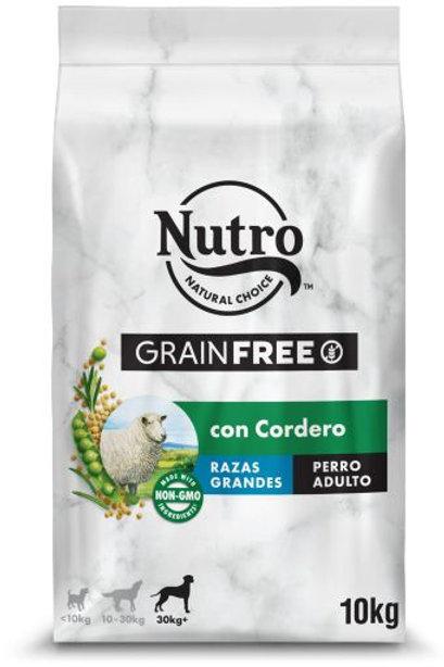 Nutro Grain Free Cane  per Cani di Grossa Taglia con Agnello 10 Kg.
