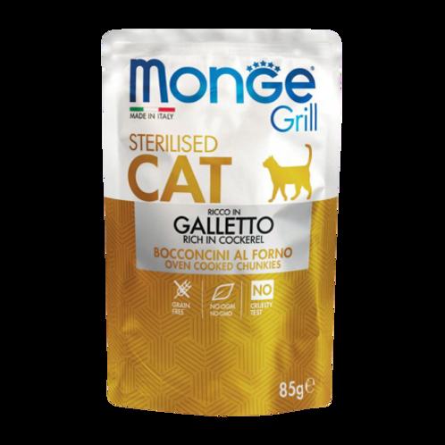 Monge Grill Cat Sterilizzati Bocconcini in Jelly Galletto da 85 Gr