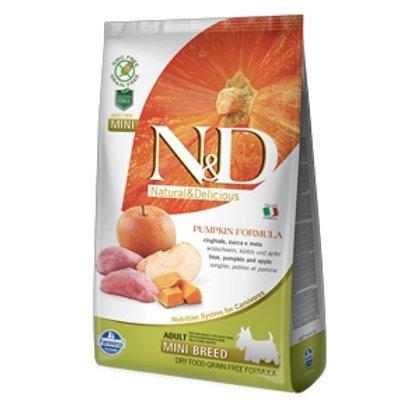 N&D Pumpkin Grain Free Adult Mini con Cinghiale, Zucca e Mela
