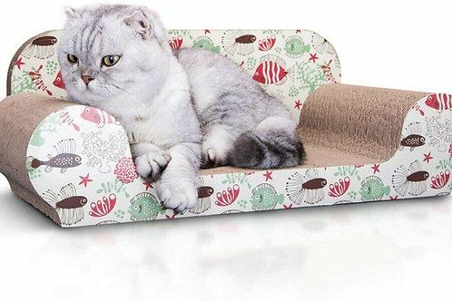 Tiragraffi Divanetto in Cartone con erba gatta anche per il riposo gatto