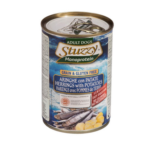 Stuzzy Monoproteico con Aringhe e Patate 400 o 800 Gr.