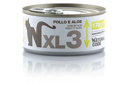 Natural Code Gatto Adult XL3 Pollo e Aloe 170 Gr.