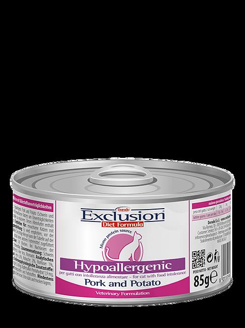 Exclusion Diet Hypoallergenic per Gatto con Maiale e Patate da 85 gr