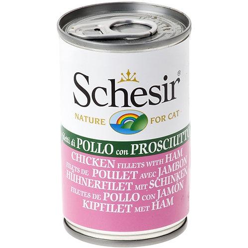 Schesir - Filetti di Pollo con Prosciutto in Gelatina 140 Gr.
