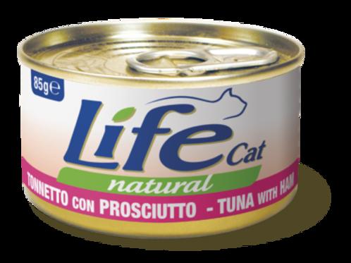 Life Cat Natural Tonnetto con Prosciutto 85 Gr.