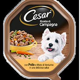 Cesar Ricette di Campagna Pollo e Misto di Verdure in salsa 150 Gr.