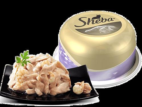 Sheba Le Specialità con Filetti di Tonno e Gamberi 80 Gr.
