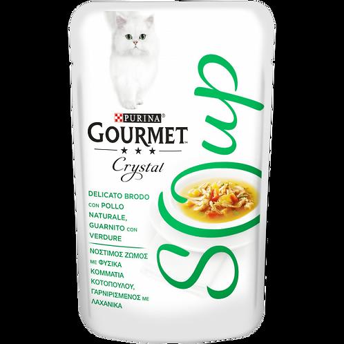GOURMET Crystal Soup Delicato brodo con Pollo naturale,guarnito con Verdure 40g