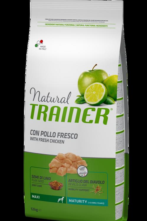 Natural Trainer Maxi Maturity con Pollo e Riso 12 Kg.