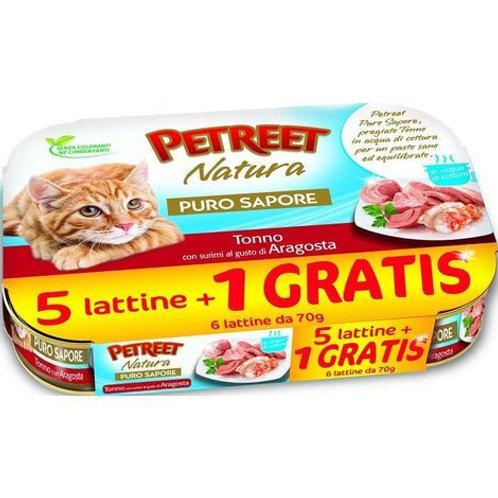 Petreet Natura Tonno con Surimi al gusto Aragosta Multipack 6 Lattine x 70 gr