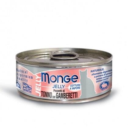 Monge - Natural Superpremium Jelly Pezzetti di Tonno del Pacifico e Gamberetti