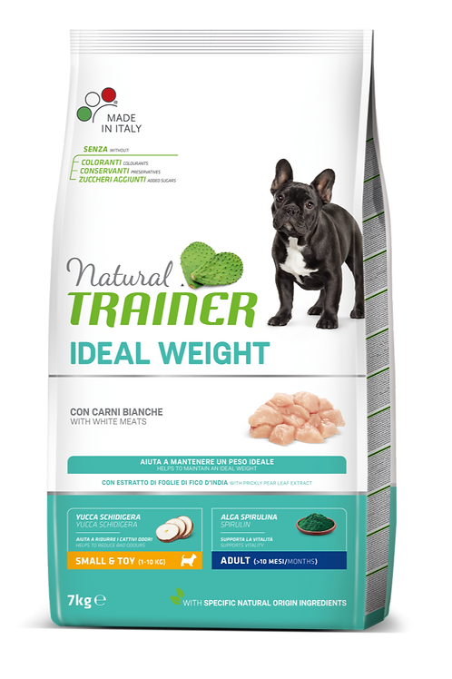 Natural Trainer Ideal Weight Mini Adult con Carni bianche 7 Kg.