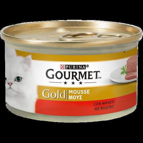 GOURMET Gold Gatto Mousse con Manzo 85 Gr.