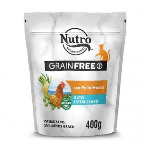 Nutro Grain Free Gatto Sterilizzato con Pollo Fresco 400 gr.