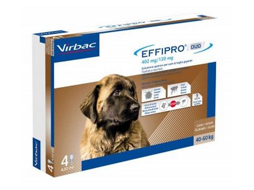 Virbac-Effipro Duo Spot-On contro pulci,uova,larve e zecche Cane XL 40-60 Kg.