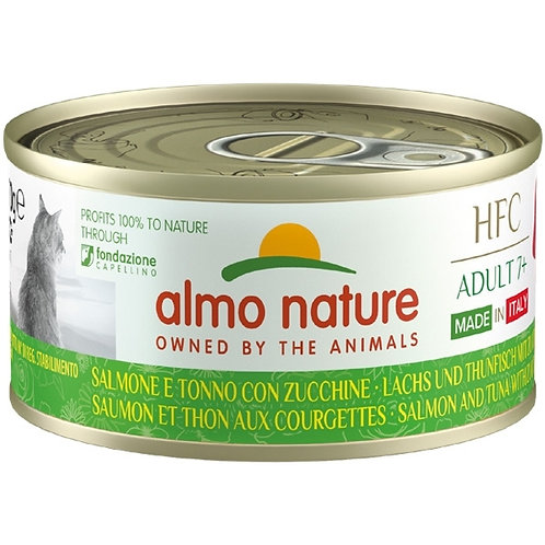 Almo Nature - HFC Complete Made in Italy Adult 7+ Salmone Tonno e Zucchine
