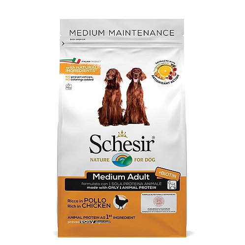 Schesir - Dry Line Medium Mantenimento con Pollo 3 Kg.