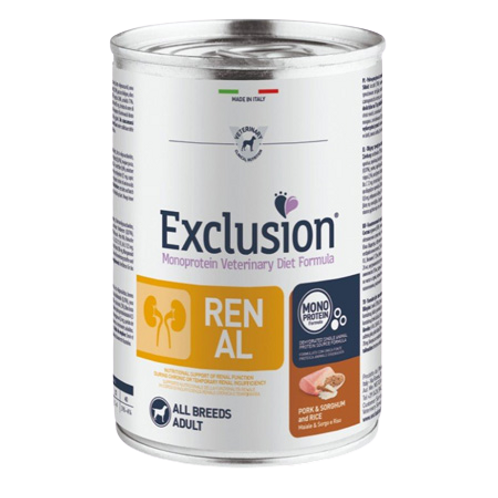 Exclusion Renal All Breeds Maiale & Sorghum e Riso 400 Gr.