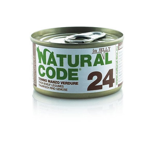 Natural Code - 24 Tonno, Manzo e Verdure  85 Gr.