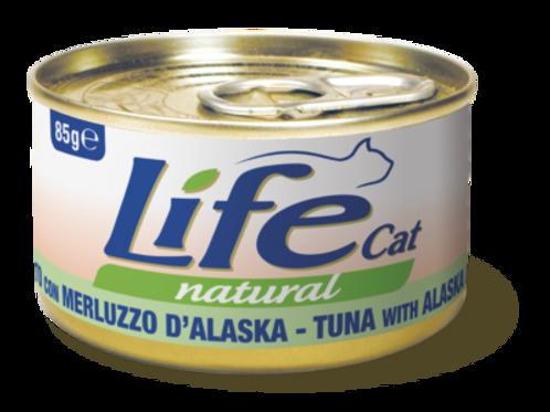 Life Cat Natural Tonnetto con Merluzzo D'Alaska 85 Gr.