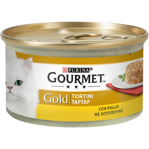 GOURMET Gold Tortini Gatto con Pollo 85 Gr.