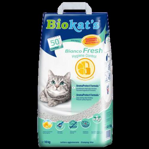 Biokat's Lettiera Agglomerante Bianco Fresh kg.10