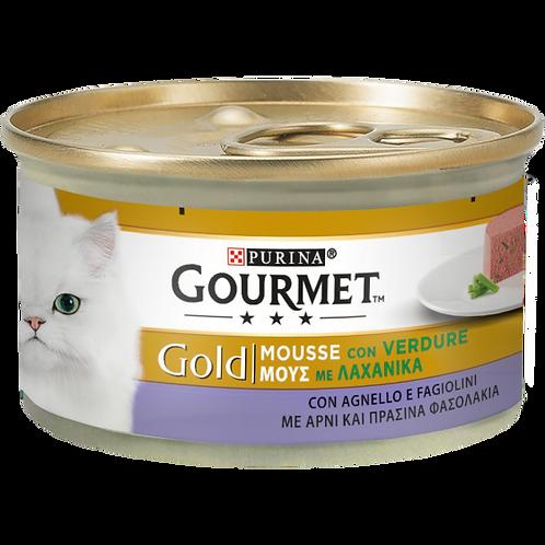 GOURMET Gold Gatto Mousse con Agnello e squisiti Fagiolini 85 Gr.