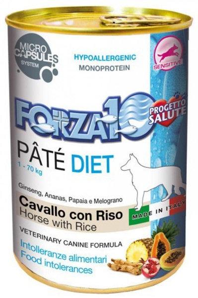 Forza 10- Diet Patè di Cavallo e Riso Cane 400 gr.
